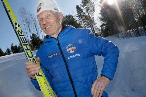 LEGENDE: Alf Hartvik Austvik (88) - rak i ryggen og klar for Reistadløpet.