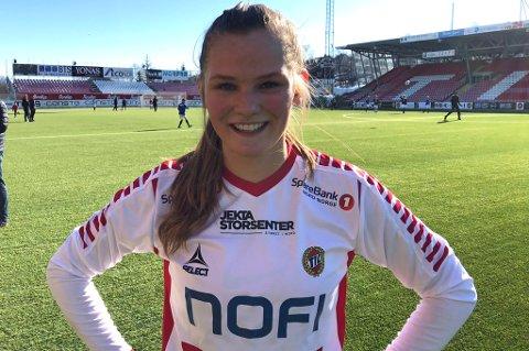 BANENS GIGANT: Martine Brustad scoret to ganger - og hadde en assist, i dagens cupkamp mot TUIL.