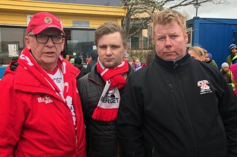 fra venstre: Alf Edvard Masternes, Marius Brynjulfsen og Halvard Fredriksen. Både Marius og Halvard var blant de som ble angrepet.