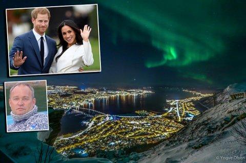 GIFTEKLAR: Prins Harry og Meghan Markle vies i Windsor slott på lørdag. Som nyforelsket var de på hemmelig ferie i Tromsø, og Stein Are var en av dem som møtte paret. Foto: Scanpix/Nordlys