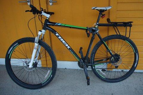 STJÅLET: Her er sykkelen som ble stjålet i Tromsø sentrum fredag kveld.