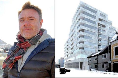 RUVER: Det nye Nordlyskvartalet ruver i sentrum, slik Bård Sverdrup og TotalRenovering vil ha det. Men etter syv runder på tegnebrettet, sier Tromsø kommune fortsatt nei.