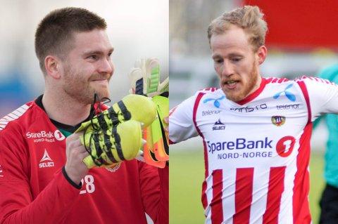 BEDRING: Gudmund Taksdal Kongshavn ser ut til å vurderes som klar nok til å være med i TILs tropp mot Brann søndag. Det rekker ikke Gjermund Åsen (t.h.), ifølge trener Simo Valakari.