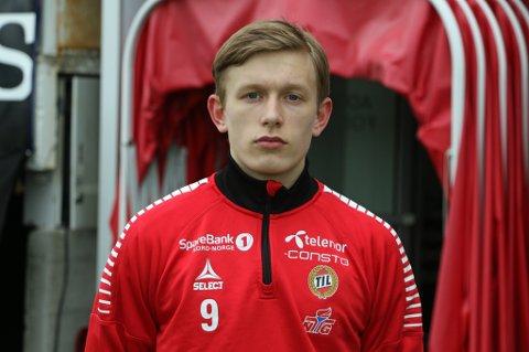 I TROPPEN: 17 år gamle Marcus Holmgren Pedersen er med i TIL-troppen som møter Brann søndag.