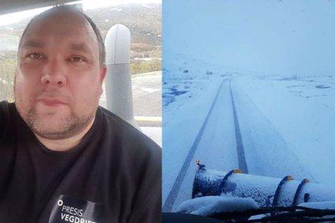 IKKE SOMMERMODUS: Å brøyte så langt ut i juni, er ikke helt normalt ifølge Morten Knutsen.