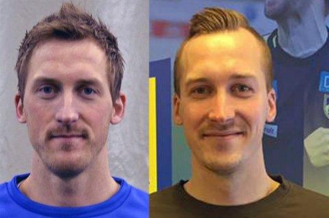 FLYSKREKK: Vegard (t.v) og Thomas Båtnes Braaten er tvillinger og spiller begge for Alta IF. De har også begge flyskrekk, som de dog har lært seg å til dels kontrollere med årene.