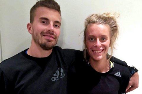 PÅ REKORDJAKT: Både Kristian Ulriksen og Kathrine Kvernmo satser mot personlig rekord i London Marathon på søndag.