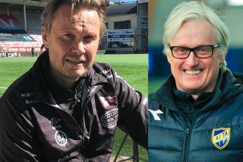 MØTES TIL DYST: Søndag står Bjørn Johansen og Bård Flovik på sidelinja for henholdsvis Fredrikstad og Alta. Flovik er nå helt åpen om at han prøvde å hente inn Johansen som sin høyre hånd i TILs trenerapparat.