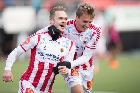 STARTER MOT RBK: Kent-Are Antonsen (t.v.) og Runar Espejord starter begge for Gutan mot Rosenborg lørdag.