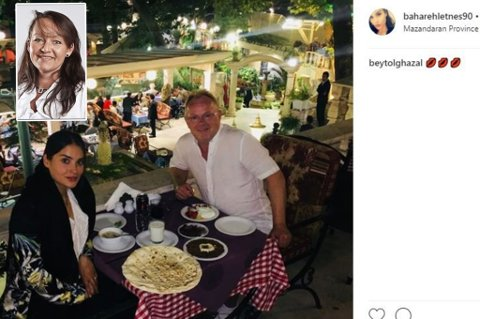 INSTAGRAM: Bahareh Letnes og fiskeriminister Per Sandberg er på ferie i Iran. Hun har lagt ut flere bilder fra turen på sin åpne Instagram-profil. Skjermdump: InstagramInnfelt: Line Miriam Sandberg.