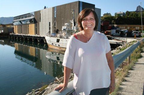 FORNØYD: Daglig leder Rita Karlsen gleder seg over gode resultater i fiskeribedriften på Husøy.