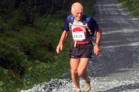 FØDT I 1946: Selvom Gunnar Lauritz Pedersen er 72 år, hevder han seg fortsatt i løpemiljøet.