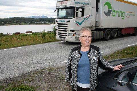 FRAMTIDSHÅP: Frid Sørensen tror industrietableringa bringer gang- og sykkelvei, kommunal vannforsyning og ny boligbygging til Grasmyr.