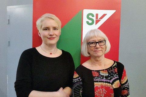 ERSTATTER: Gunhild Johansen (til høyre) går etter all sannsynlighet inn i formannskapet som erstatter for partikollega Ingrid Marie Kielland.