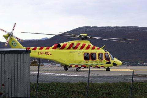 Helikopteret landet på plattformen ved UNN 16.35.