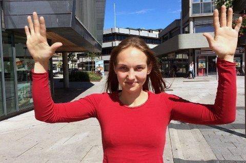 KLAR FOR TROMSØ: Amanda Vareikiene blir ny målvakt for Tromsø Håndballklubb. Den storvokste 28-åringen har 14 landskamper for Litauen.