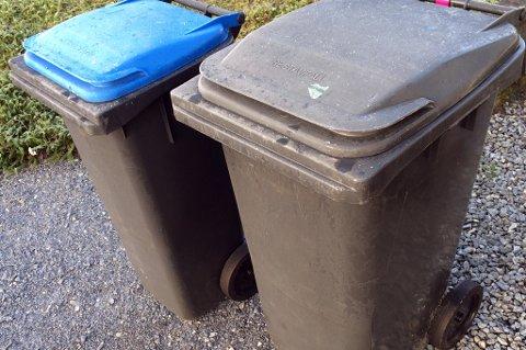 SØPPELSAK: Avfallsdunker som står over fem meter fra veien blir ikke tømt. (Illustrasjonsfoto)