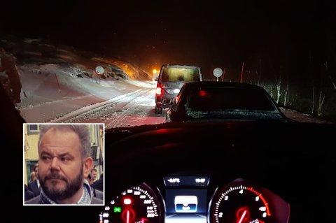 GLATTE VEIER: Karl Johan Brekmo måtte tilbringe fredagskvelden i bilen - ikke foran peisen på hytta i Kilpis i Finland som planen var.