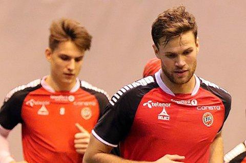 FÅR SJANSEN: Både Anders Jenssen (t.h) og Oliver Kjærgaard (t.v) starter årets første TIL-kamp mot russiske Rubin Kazan. Begge spiller for fremtiden i TIL.