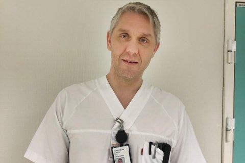 Tillitsvalgt lege Per-Kristian Jensen på UNN i Tromsø.