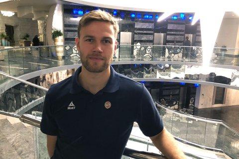GOD START: Anders Jenssen på TILs hotell i Antalya i Tyrkia etter å ha storspilt mot russiske Rubin Kazan. Det eneste Jenssen var misfornøyd med var spilletiden på en omgang.