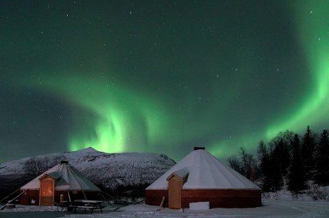 Dette bildet er tatt ved Camp Tamok. Foto: Lloyd Rehnlund/Lyngsfjord Adventure