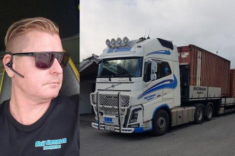 SJÅFØR: Stig Hindbjørgmo kjører for Oleif Simensen Transport. - Forholdene i Tromsø er under enhver kritikk, sier han.
