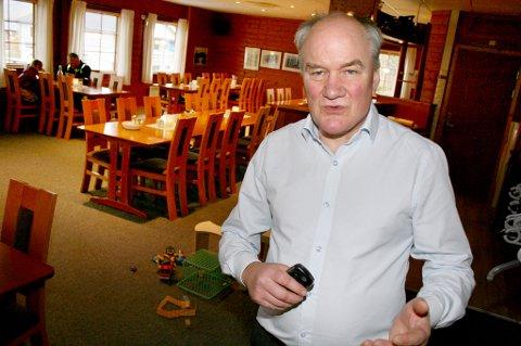 STÅR PÅ: Daglig leder Geir-Tony Andreassen har hatt sitt tyngste år , men sier at det går bedre nå.