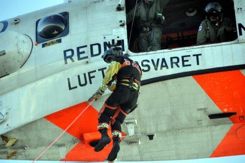 Redningstjenesten i Luftforsvaret i aksjon.