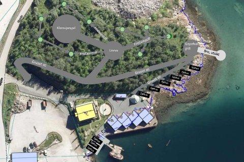 IDE: Slik tenker Bård Meløe at området ved Finsnes gaard kan bli et attraktivt friluftsområde i sentrum.