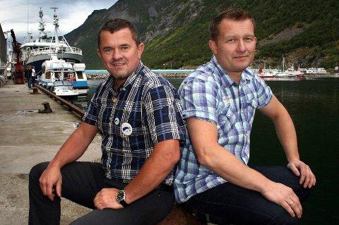 BRYTER UT: Fiskerne på Husøy danner eget fiskarlag med Jimmy Tøllefsen (t.h.) som formann. Her er han sammen med fiskebåtreder Rolf-Bjørnar Tøllefsen under Husøydagan.