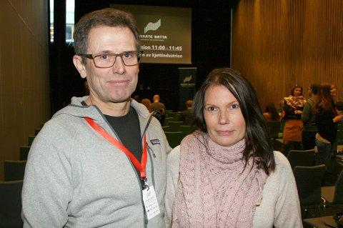 NÆRT PÅ SKREDET: Ekteparet Aadne Olsrud og Wibeche Steinvik besøkte  Svarte Natta-konferansen, der dødsskredet i Tamokdalen var et av temaene.