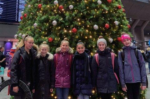 LANDSLAGSKLARE: Tromsø turnforenings Kathrine Olsen (f.v), Maya Arthur Støback, Hannah Larsen Loso, Mathea Selfors, Mija Lundberg og Leni Blikfeldt er tatt ut på landslag i rytmisk gymnastikk i 2020.