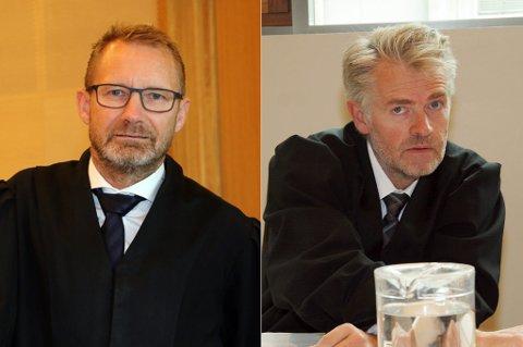 ADVOKATER: Erik Ringberg (t.h) er bistandsadvokat for faren (34), mens Tore Pedersen representerer den avdøde moren (27).