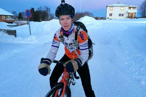 DR.SYKKEL: Åsmund Treu Røe kommer fra Oslo med helt fremmede sykkelvaner.