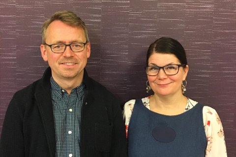 PROVOSERT: Morten Skandfer (leder i Tromsø Venstre) og Trine Noodt (førstekandidat Troms og Finnmark Venstre) vil stoppe nedleggelse av