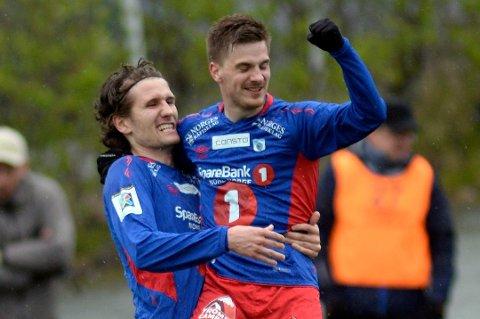 FARLIG DUO: Håkon Kjæve og Vegard Lysvoll sto bak mange av TUILs muligheter mot Alta søndag. Her fra en tidligere anledning.