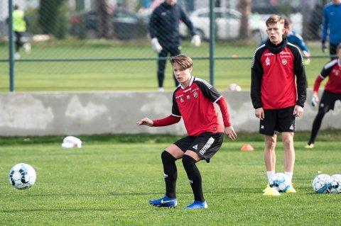 FÅR SJANSEN: Både August Mikkelsen (f.v) og Marcus Pedersen får sjansen fra start for TIL mot Slovan Bratislava lørdag.