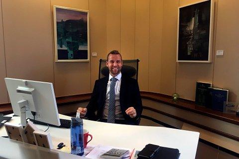 NY TOPPSJEF: Petter Høiseth er i dag konserndirektør i Sparebanken Nord-Norge og underlagt konsernsjef Jan-Frode Janson.