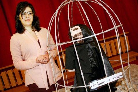 KVINNEKAMP: Sefideh Sami med tydelig budskap om kvinners verdi i Iran.