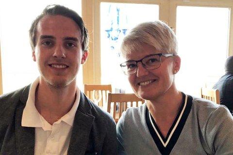 MOR OG SØNN: Charlie Dan Lind og Ramona Lind.