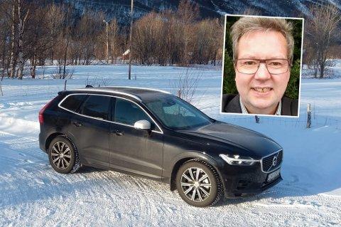 TRØBBEL MED VOLVO: Det hadde vært en knallgod vinterbil, om den hadde tålt kulde, sier Stig Hansen