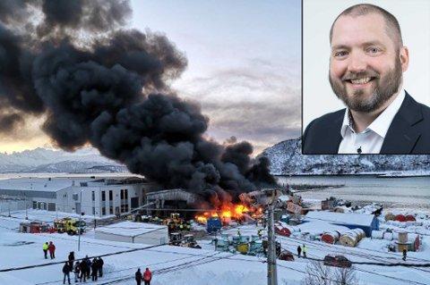 EIER: Ole-Kristian Flaaen er administrerende direktør for Mørenot Fishery - som eier industribygget som nå brenner på Skjervøy.