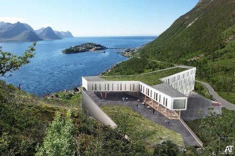 HØYT: Husøy hotell skal ligge hundre meter over havet.