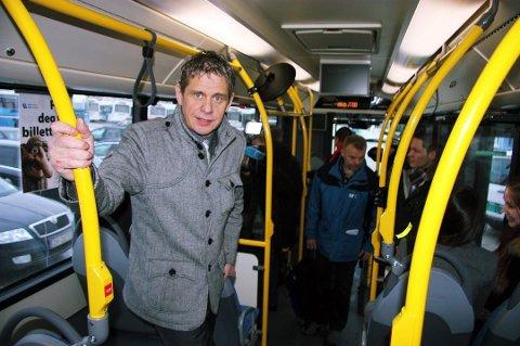 «BØTELAGT»: Troms fylkestrafikk har gitt Nobina en rekke gebyrer for det de mener er kontraktsavvik i Tromsø. Magnar Nilssen (bildet) er ikke enig.