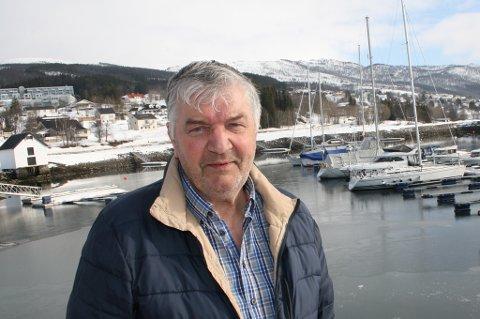 IKKE FERDIG: Styreleder Terje Konradsen i Olderhavna Båthavn avviser at prosjektet han satte i gang for åtte år siden var dårlig.