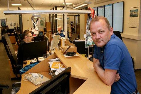 BEKYMRET: Redaktør i Folkebladet og leder i Nordnorsk redaktørforening, Steinulf Henriksen, frykter store inntektstap ved redusert postombæring.
