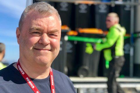 PROSJEKTLEDER: Trond Evertsen er prosjektleder i Remiks og har oversett utleveringen av det som totalt skal være 15.000 nye søppeldunker i Tromsø.
