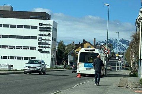 BOM STANS: Her ble Nobina-bussen stående torsdag morgen.