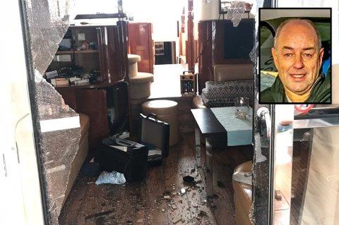 INNBRUDD: Båten til Roar Lorentsen ble påført store skader, og penger og dyrebare gjenstander ble stjålet i innbruddet i vinter.